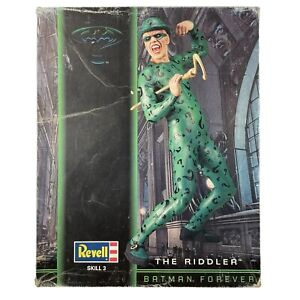 Batman Forever 1996 The Riddler Revell #3302 1:6 Scale Model Skill 3 Opened Box