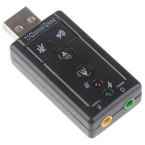 2pcs7.1 External USB Sound Card USB Headphone Audio Adapter Micphone Sound C*wk