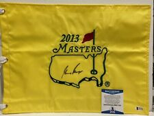 SIGNED GOLF MASTERS FLAG WINNER GARY PLAYER BSA BECKETT RARE HOF 2013