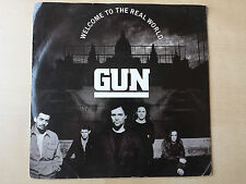 "GUN ""WELCOME TO THE REAL WORLD"" RARE 7"" VINYL"