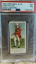 1900 Cope Bros & Co Cope's Golfer #38 John Taylor HOF Rookie RC PSA 7 Pop 3 w 5^