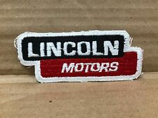 "VINTAGE ORIGINAL 1950/60'S EMBROIDERED LINCOLN MOTORS JACKET PATCH 4.5"" X 2"""