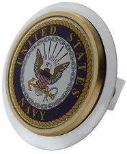"""U.S. Navy Chrome Class II Trailer 1.25"""" Trailer Tow Hitch Plug Cover Receiver"""