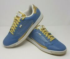 The Arthur Ashe by Run Athletics Mens Size US 13 Blue & Gold Leather Upper Shoes