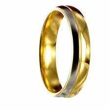 Edelstahl Bicolor silber / gold Ring Partnerring Ehering mit gratis Gravur 10168