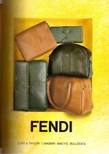 1993 Fendi Purses Handbags Accessories Print Ad Vintage Advertisement VTG 90s