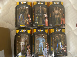 AEW Unrivaled Series 3 Complete Set Pac-Riho-Cassidy-Allin-Jackson 19-24 In Hand