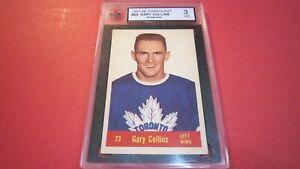 1957 Parkhurst #23 Gary Collins, Toronto Maple Leafs. KSA 3 VG ROOKIE