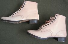WWII GERMAN M1937 M37 LEATHER LOW BOOTS- SIZE 8