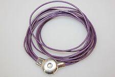 Markenlose Modeschmuck-Halsketten & -Anhänger im Collier-Stil aus Leder für Damen