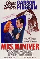 MRS. MINIVER Movie POSTER 27x40 Greer Garson Walter Pidgeon Teresa Wright May