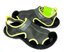 Crocs Swiftwater SANDALS GREY/TENNIS BALL GREEN MENS 7, 10,13 NEW