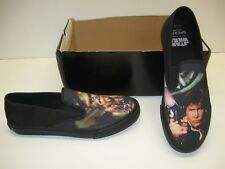 Sperry Cloud Star Wars Hans Solo Chewie Black Canvas Slip On Shoes Mens 8