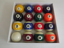 "Spots And Stripes 2"" Size English POOL TABLES BALLS SET with 1-7/8"" Cue Ball"