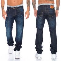 Rock Creek Pantalones Vaqueros De Hombre Corte Recto Azul ll-300 w29-w44 NUEVO