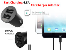 Quick Car Charger 4.8A (2.4 +2.4) Dual USB Ports Fast Charging  Phones & Tablets