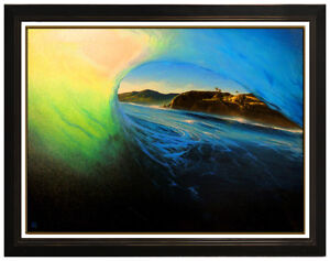 Ashton Howard View Into My World Giclee On Canvas Signed Wave Landscape Artwork