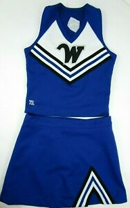 """Real Cheerleader Uniform Outfit Costume Sizes Adult XL-XS 30-40"""" Top 23-38 Skirt"""