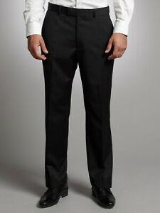 Ted Baker Mens 100% Wool Suit Trousers in BLACK (HWR) RRP £120.00