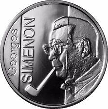 Belgien 10 Euro PP Münze Georges Simenon Silber Gedenkmünze 2003 im Folder