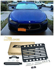EOS For 13-18 Maserati Ghibli | Front Bumper Tow Hook License Plate Bracket