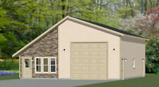 34x42 1 RV Garage - 1 Bedr Apartment - 1,400 sq ft - PDF Floor Plan - Model 2B