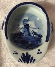 Delfts Holland Cap Hat Pin Dish Ashtray, Vintage Hand Signed 503