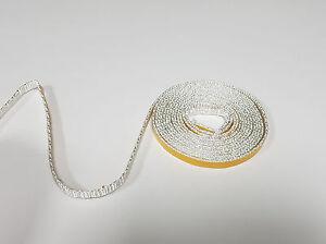 Dichtschnur Dichtband 8 x 2 mm selbsklebend Ofendichtung 0,25 m weiß 1a Qual.