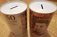 2 x BRAND NEW £50 BANK OF ENGLAND NOTE IMAGE MONEY BOX TINS