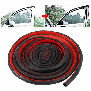 4M D-Shape Universal Auto Car Motor Door Window Rubber Seal Strip Weatherstrip