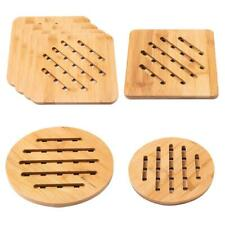 Bamboo Hollow Table Mat Anti Slip Pot Bowl Coaster Pad Home Kitchen Gadgets S1