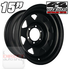 1x 15x8 22N Heavy Duty BLACK Steel Wheel Toyota Landcruiser Hilux Patrol 4x4 SR5
