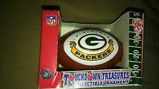 Green Bay Packers Touchdown Treasures Collectible Football NEW Ornament.