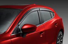 2014 - 2018 Mazda 3 4DR  / 5DR Window side deflectors set of  4 oem new!!!