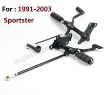 Forward Controls Foot Pegs Levers Linkage For Harley Sportster XL883 1200 91-03