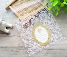 20 Piezas Cookies Adhesivo de embalaje bolsas de plástico para boda 10x10cm Snack Pack B13