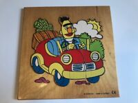 Vintage Sesame Street Jim Henson Bert Wood Puzzle ~ Made in Holland ~ Very Rare