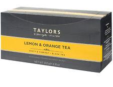 Taylors of Harrogate Lemon & Orange Tea Bags - 100 Wrapped & Tagged Bags