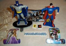 BATMAN & SUPERMAN COMPLETE SET WITH ALL PAPERS KINDER SURPRISE 2016