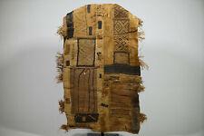 "Very Worn Vintage Kuba Cloth Textile 126"" x 31"" -Drc- African Art"