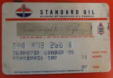 VTG STANDARD OIL CREDIT CHARGE CARD EXP 1967 KLEMEYER LUMBER VINCENNES INDIANA
