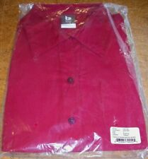 Wendy's Manager Uniform Shirt Barco Womens Size M Ruby Red stripe