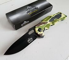 "8"" SPRING ASSISTED OPENING POCKET KNIFE CAMOUFLAGE GRIP/CANADA"