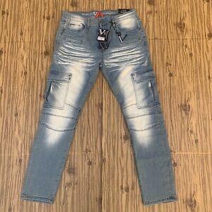 New Mens Versace V1969 Studio De Vestiti Eleganti Slim Fit Jeans 30x32 Blue