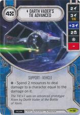 x1 Darth Vader's TIE Advanced 12 Rare Star Wars Destiny Empire at War M/NM