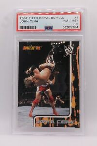 2002 Fleer Royal Rumble JOHN CENA RC ROOKIE CARD #7 PSA 8.5 NM-MT+ POP 5