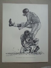 ROBERT RIGER SHELL OIL 1960 NEW YORK GIANTS SKETCH - PAT SUMMERALL