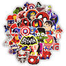 50Pcs Cartoon Marvel Super Hero Graffiti Sticker Skateboard Luggage Laptop Decal