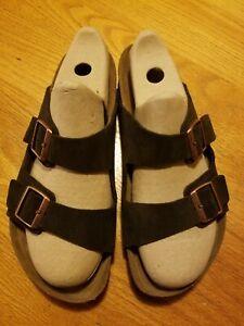 Birkenstock Men's Arizona Mocha Dark Brown Suede Two-Strap Sandals Size 45 US 12