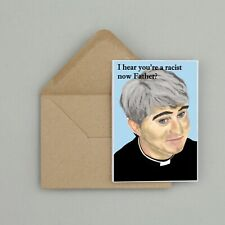 Recycled Hand Made Card Father Ted Inspired Birthday Card Funny/Humour